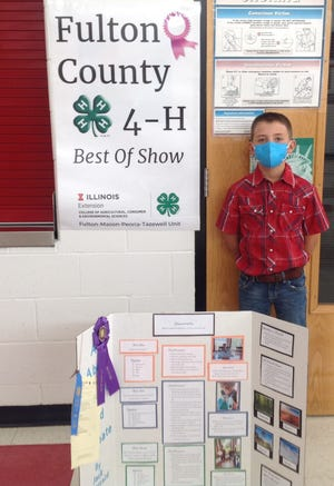 Jack Fitzjarrald received Best of Show in the Weather project at 4-H General Show.
