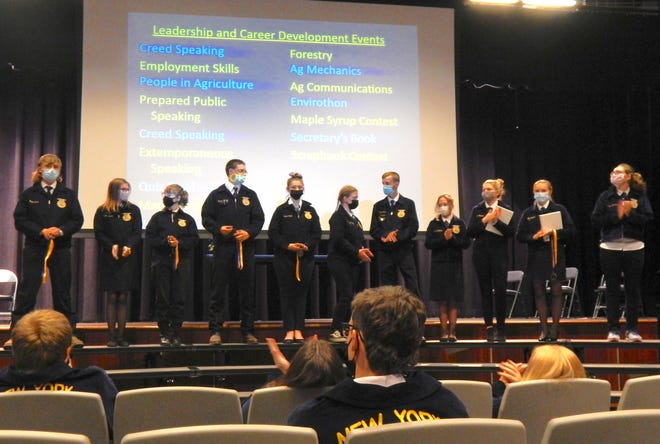 Several FFA members were recognized for their participation in State Career and Leadership Development Contests.