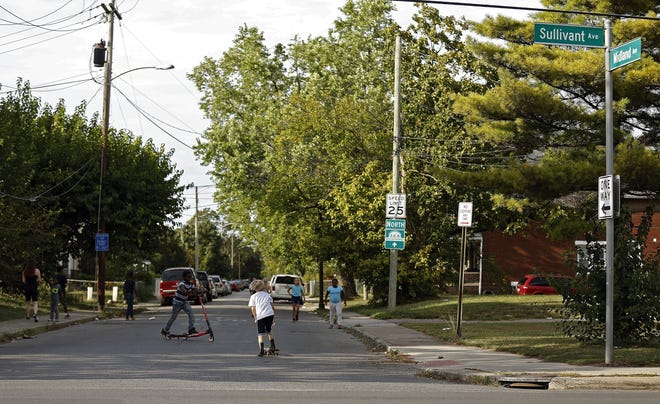 At 60 years of age, Franklinton has the lowest life expectancy rate in the state, a finding that public health leaders say highlights the many health-related inequities that exist in Ohio that need to be addressed before children like these, playing at the corner of Midland and Sullivant Avenue, grow up.
