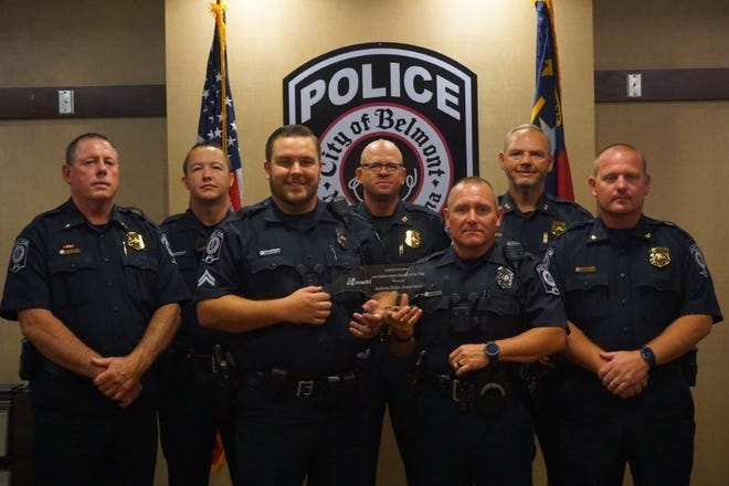 The Belmont Police Department awarded with the Mothers Against Frunk Driving, Agency of the Year Award of Excellence, for their proactive efforts to end drunk driving.