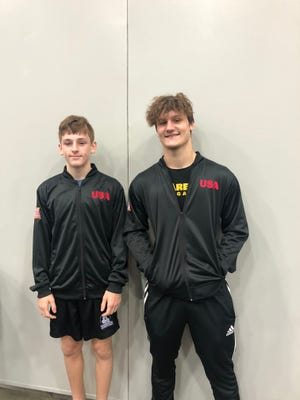 Gaston County MMA fighters, Landon Weaver, 14, and Mason Grindstaff will be representing the U.S. at the IMMAF 2021 Youth World Championships on July 30.