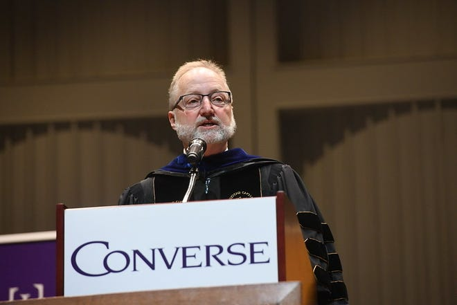 Converse University Interim PresidentJeffrey Barker was killed in a bicycle crash on Wednesday.