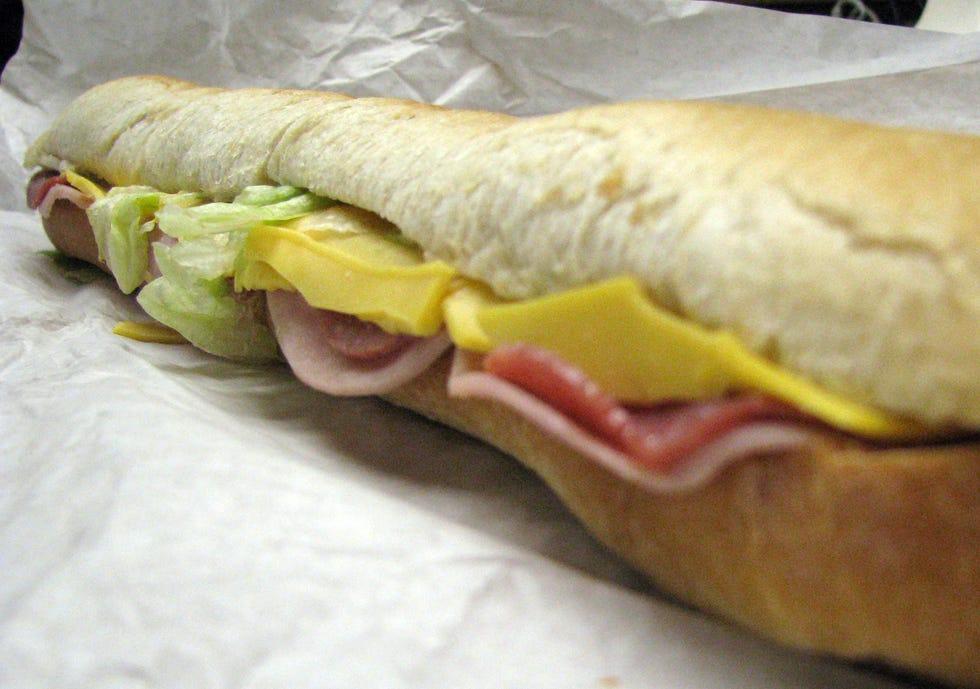 Avanti's famous gondola sandwich.