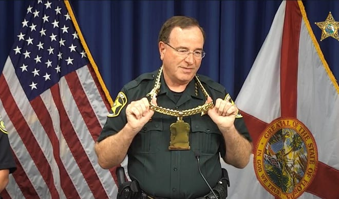 Polk County Sheriff Grady Judd announced charges against 32 suspects in a 16-month drug trafficking investigation in the Lake Wales area.