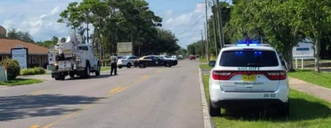 A driver lost control of his vehicle and struck a utility pole on Mar Walt Drive on Wednesday afternoon. The crash damaged power lines in the area and Gulf Power spent several hours making repairs.