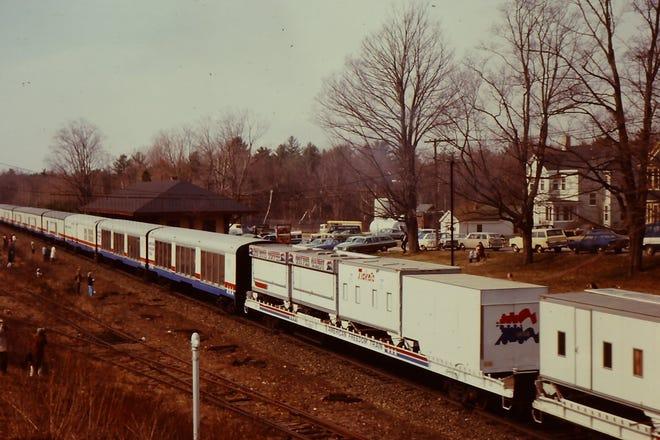 Freedom Train passing through Kennebunk in 1976.