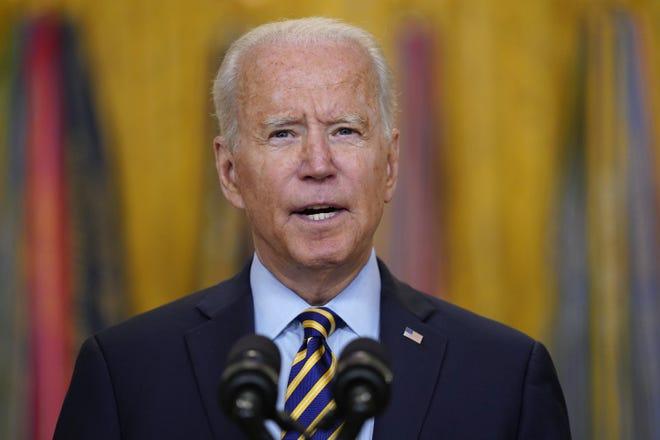 President Joe Biden speaks about the American troop withdrawal from Afghanistan.