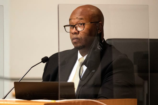 """Palm Beach County Schools Superintendent Donald Fennoy listens as board members voted to oust controversial principal William Latson for a second time Monday, Nov. 2, 2020.  The former Spanish River High Principal was fired in October 2019 after sparking national outrage by telling a parent he """"can't say the Holocaust is a factual, historical event because I am not in a position to do so as a school district employee."""""""