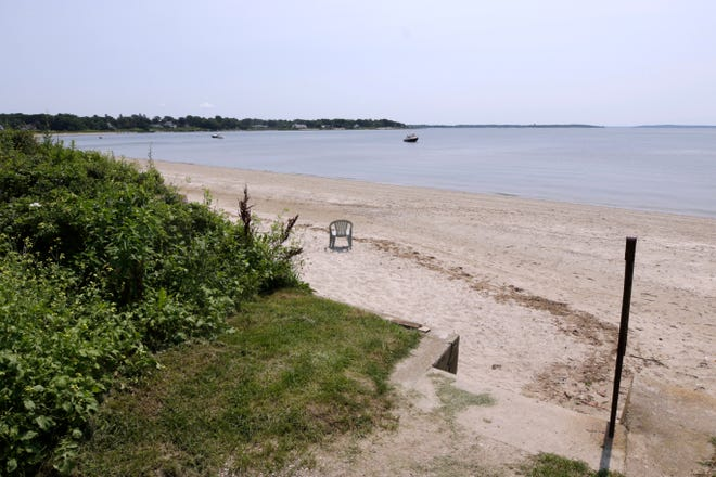 An entrance to Barrington Town Beach at the end of Clarke Road in Barrington.