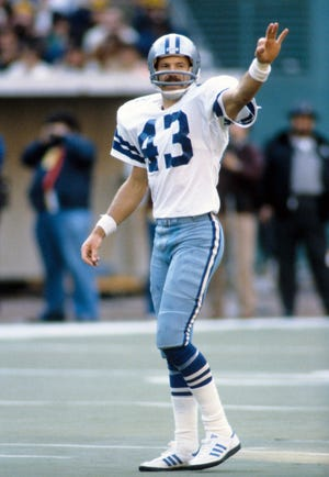 Dallas Cowboys safety Cliff Harris on the field during the 1979 season. (Manny Rubio-USA TODAY Sports)