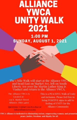 The Alliance YWCA is hosting a unity walk on Sunday, Aug. 1 in response to hate messages that were spray-painted on buildings and areas of downtown.