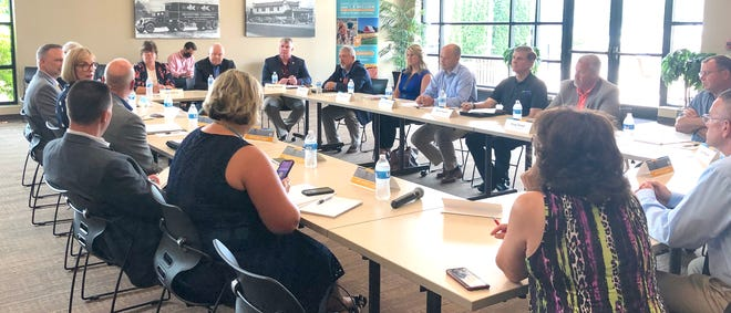 Members of area power cooperatives, including South Central Indiana REMC, and Indiana state government officials met for an Indiana Electric Cooperatives roundtable on Tuesday to discuss access to broadband internet.