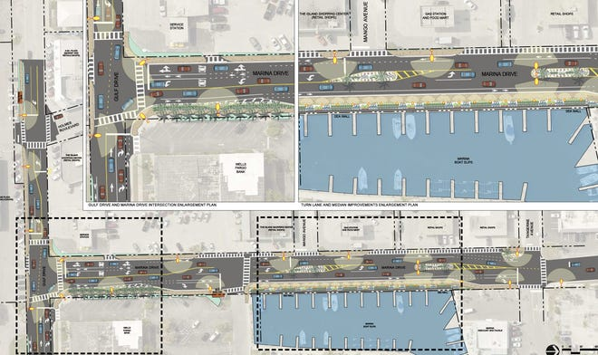 The City of Holmes Beach will soon send a project to improve Marina Drive and a portion of Gulf Drive out to bid.