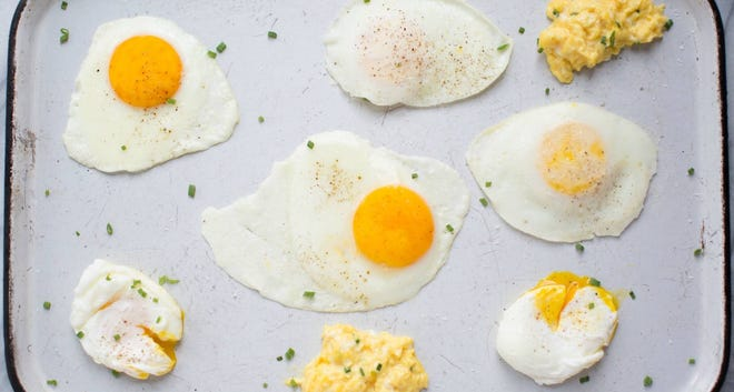 Fried egg - it's not the usual lunchmeat.