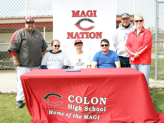 Mickey Barkman, Colon graduate, will continue his academic and baseball careers with Terra State Community College.