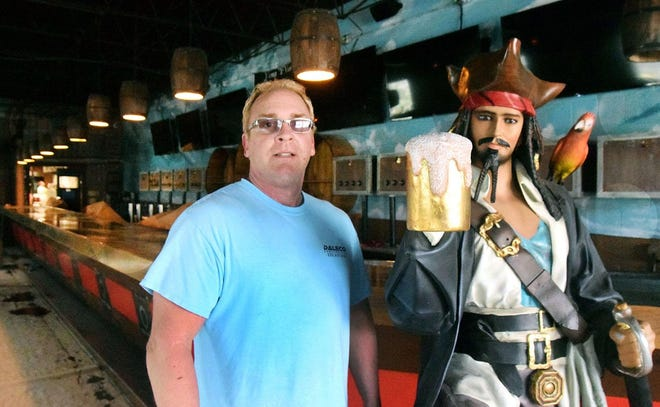 Dale Overbee is pictured at his restaurant Blackbeard's Triple Play Restaurant and Bar located in downtown New Bern