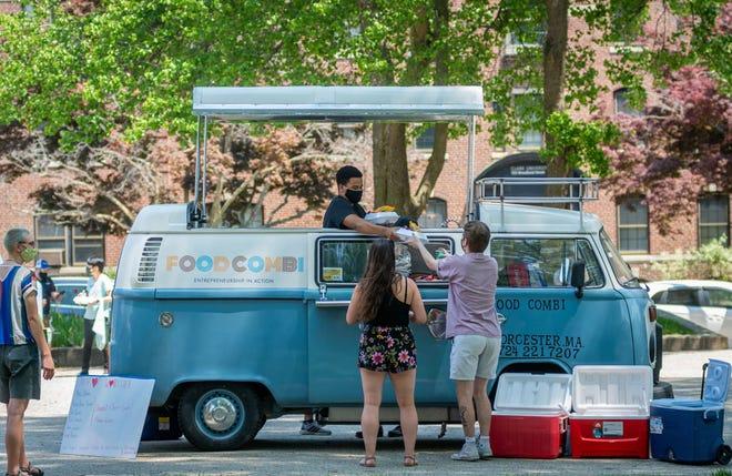 The Food Combi food truck at Clark University.