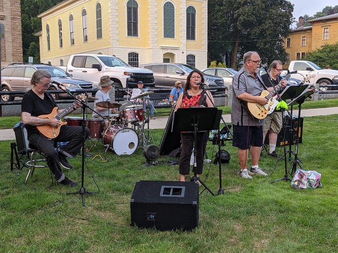 Crossroads perform in Clinton's Central Park on Tuesday, July 20, as part of Clinton Park and Recreation's summer series. Concerts continue on Tuesdays, Aug. 3 and 10.