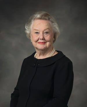 Studio portrait of Jo Williams, Vice President Emerita and Professor of Education Emerita. (photo by Kim Walker)