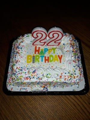 A festive cake to celebrate Lovina's son Benjamin turning 22 on July 14.