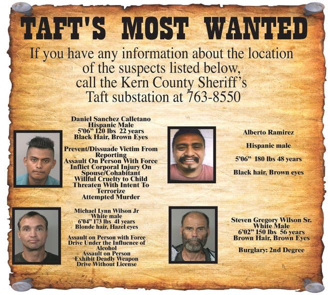 Taft's Most Wanted