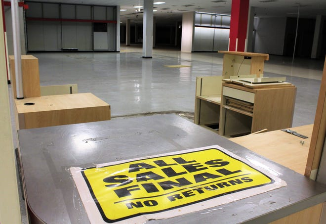 Some furniture remains from the former Sears store at the Mall of Abilene that in November 2022 will return to life as a service center for Hendrick Health.