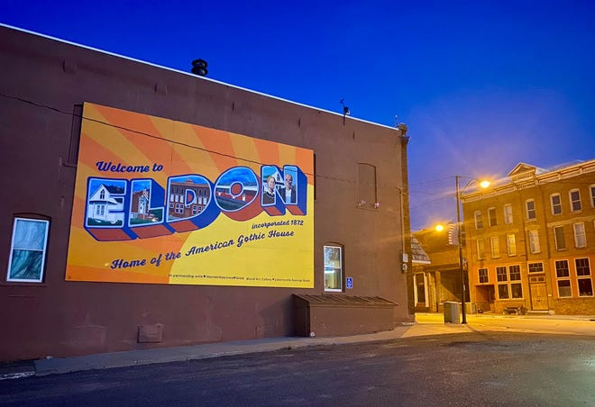 Eldon Uptown/Downtown, a nonprofit organization that works to restore, revitalize and maintain Eldon's business district, commissioned this mural.
