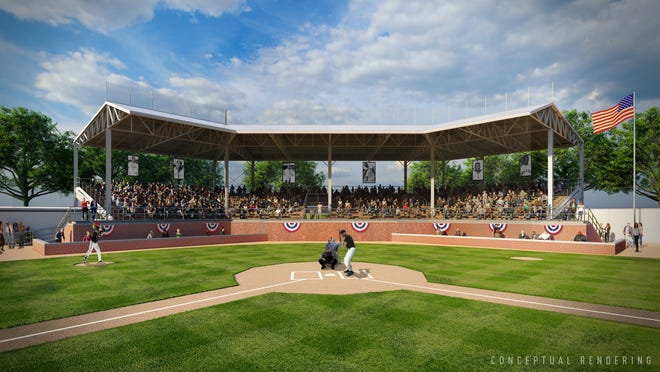 An artist's rendering of what a renovated Hamtramck Stadium would look like.