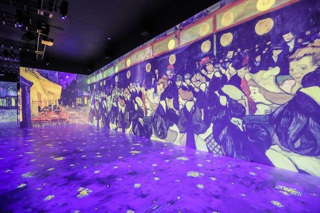 """à l'intérieur """"Le métier à tisser Indianapolis,"""" La galerie immersive de Vincent Van Gogh présentant près de 30 000 pieds carrés d'expositions immersives et une nouvelle expérience multisensorielle, le jeudi 22 juillet 2021, à Newfields.  L'exposition ouvre le 27 juillet 2021."""