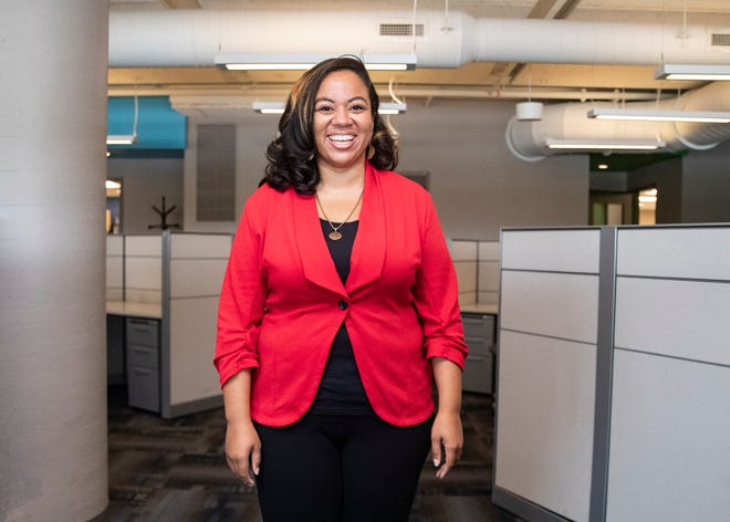 Women's Business Center South Executive Director Vonesha Mitchell poses for a portrait at Crosstown Concourse in Memphis, Tenn., on Thursday, July 22, 2021. The Small Business Association-funded venture's purpose is to help women-owned businesses launch and thrive.