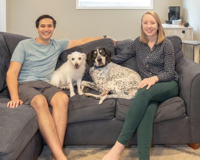 Ben andMaddie,along with their canine companions, love their home.