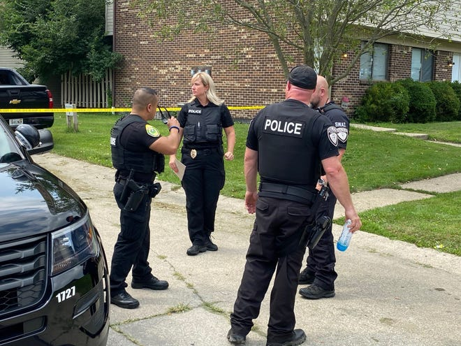 Muncie police on July 22, 2021 were at the scene of a man's shooting death in the Canterbury Townhomes complex on the city's west side.
