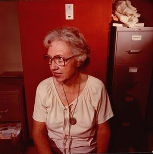 Lois Boyles in The Phoenix Gazette newsroom.