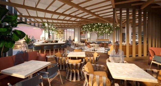 The renovated Sheraton Phoenix Downtown hotel is opening a new restaurant, Carcara, in fall 2021.