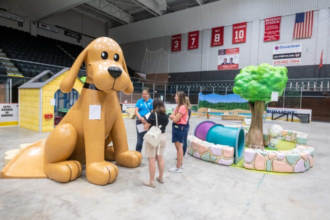 Educators get a sneak preview of a hands-on children's exhibit coming to the Port Huron Museum's Carnegie Center Thursday, July 22, 2021, at McMorran Arena.