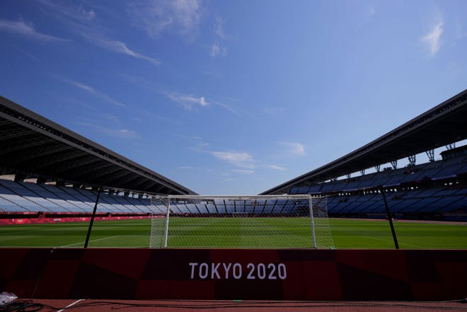 A general view of Miyagi stadium ahead of the Tokyo 2020 Olympic Games on July 20, 2021 in Rifu, Japan. (Koki Nagahama/Getty Images/TNS)