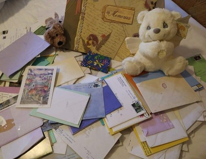 Reading all the cards and letters sent from people around the world has been uplifting for Angela Mosso.