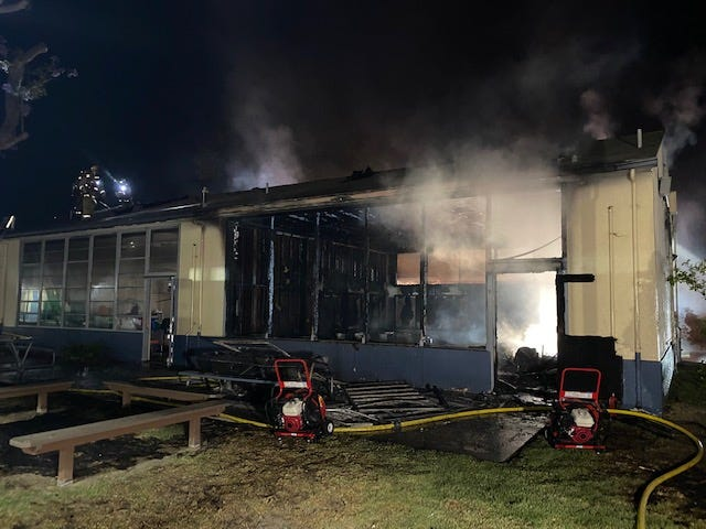 Ventura City Fire Department responded to a 911 call about a structure fire at Mound Elementary School on South Hill Road just before 3 a.m. Thursday, July 22, 2021.