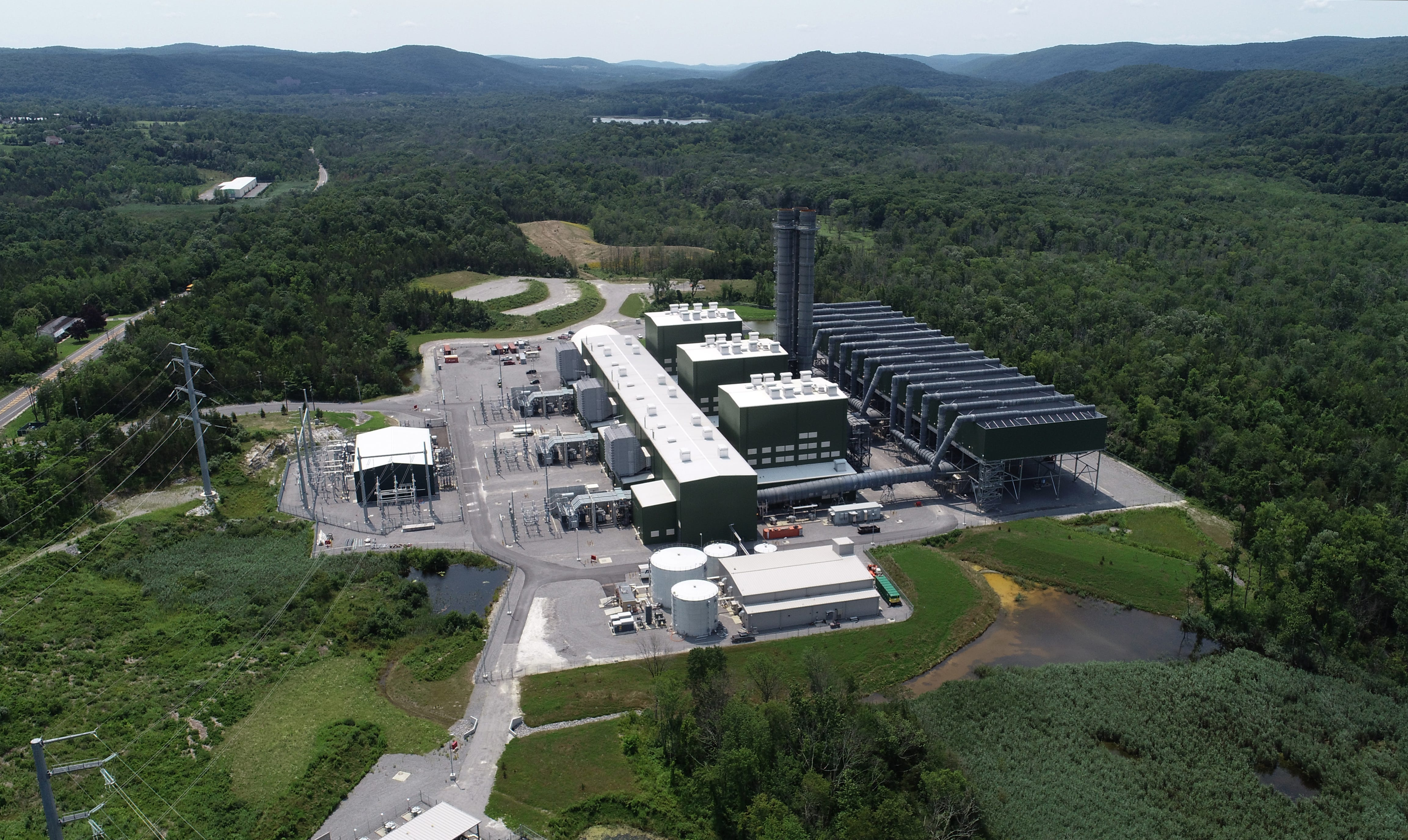 The Cricket Valley Energy Center, a natural gas plant in Dover Plains, pictured on July 22, 2021.