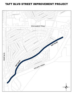 Construction begins Monday on a portion of Taft Boulevard.