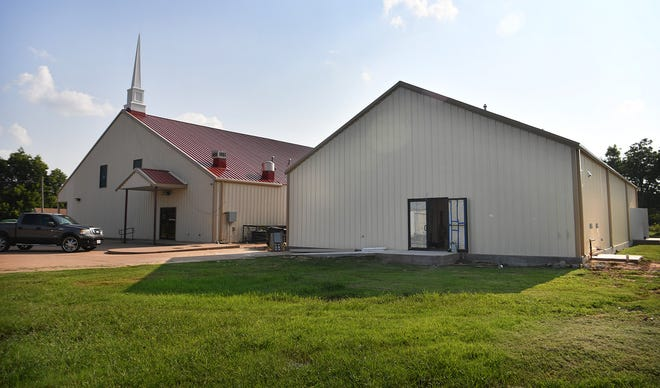 Construction on the New Jerusalem Baptist Church's Family Life Center, right, is nearing completion. The 3,800 square foot facility will be available for meetings, banquets, bible studies, exercise classes, sports and more.