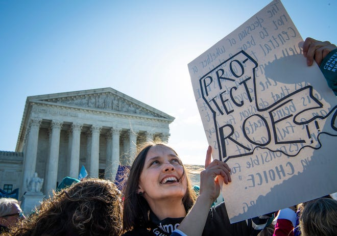 Activists rally outside the Supreme Court of the United States in Washington, DC on March 4. 2020.