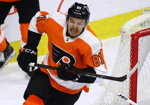 Philadelphia Flyers' Carsen Twarynski