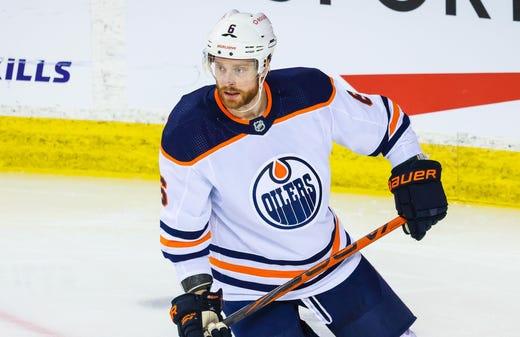 Edmonton Oilers' Adam Larsson