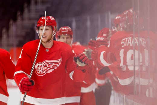 Detroit Red Wings' Dennis Cholowski