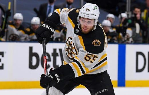 Boston Bruins' Jeremy Lauzon