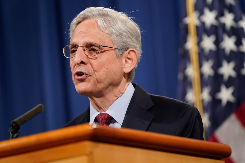 Attorney General Merrick Garland speaks during a news conference at the Department of Justice in Washington on June 25, 2021.