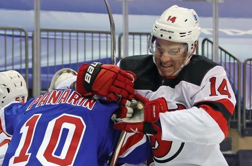 New Jersey Devils' Nathan Bastian