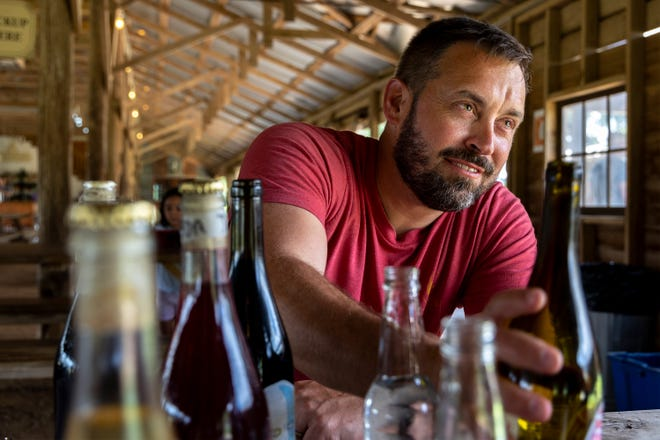 """""""We kind of felt like, certainly not veterans, but beginner or intermediate winemakers for half a decade,"""" Jester King Brewery co-founder Jeffrey Stuffings said."""