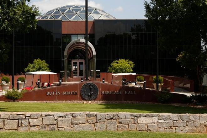 The University of Georgia Athletic Associations Butts-Mehre Heritage Hall in Athens, Ga, on Thursday, Sept. 3, 2020. (Photo/Joshua L. Jones, Athens Banner-Herald)